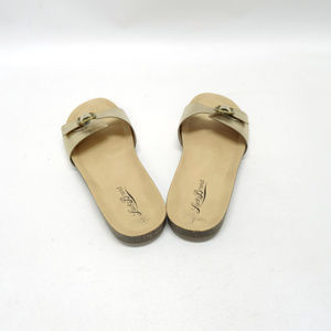 Lucky Brand Shoes - Lucky Brand Dolliee Gold Slides